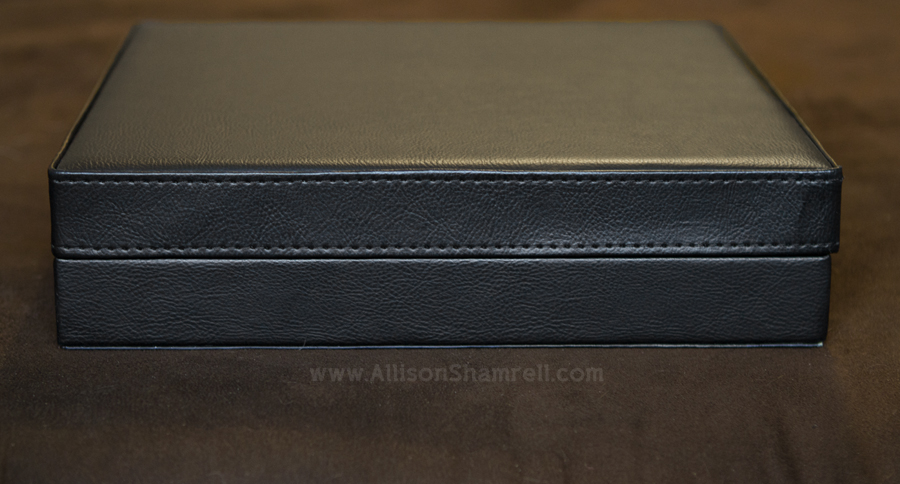 Dog photography album leather carrying case.