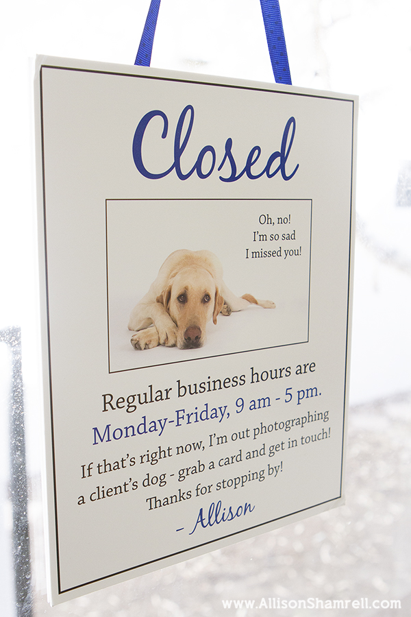 pet photo studio sign