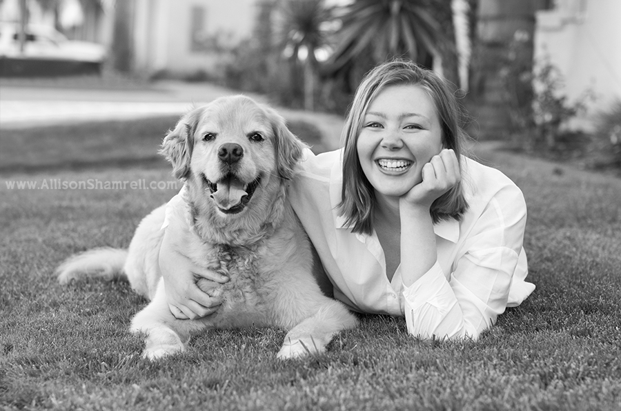 senior photos with pet