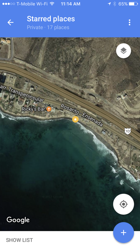 satellite dog beach map